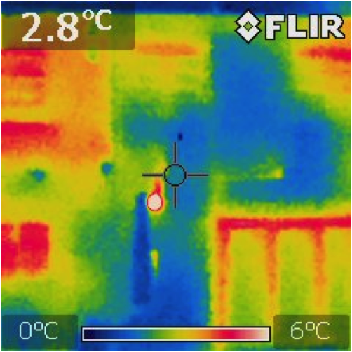 thermal image picture house outside