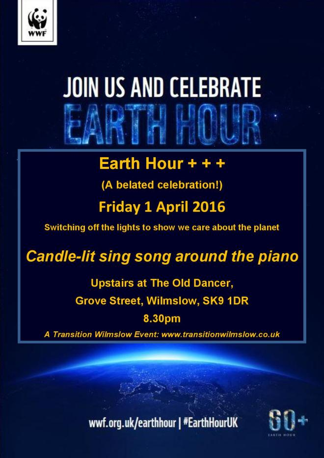 Earth Hour 2016 flyer